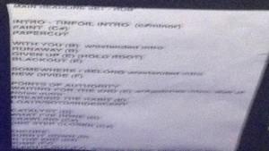 Предварительный треклист Linkin Park на PROSTO ROCK 2012