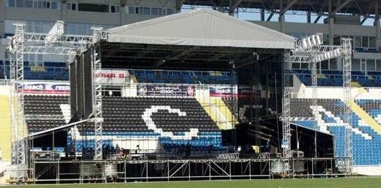 Установка сцены PROSTO ROCK 2012