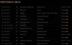 Rammstein тур на лето 2013