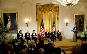 Led Zeppelin получили награду Kennedy Award от Барака Обамы в Белом Доме