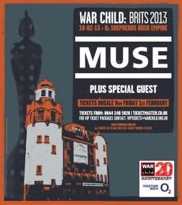 Концерт Muse на фестивале War Child 2013 будет транслироваться online на Youtube (Live)