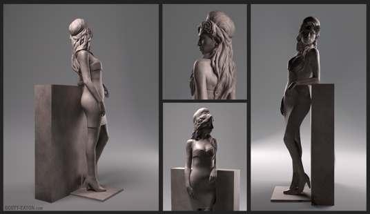 В сети появились первые фото памятника Эми Уайнхаус (Amy Winehouse)